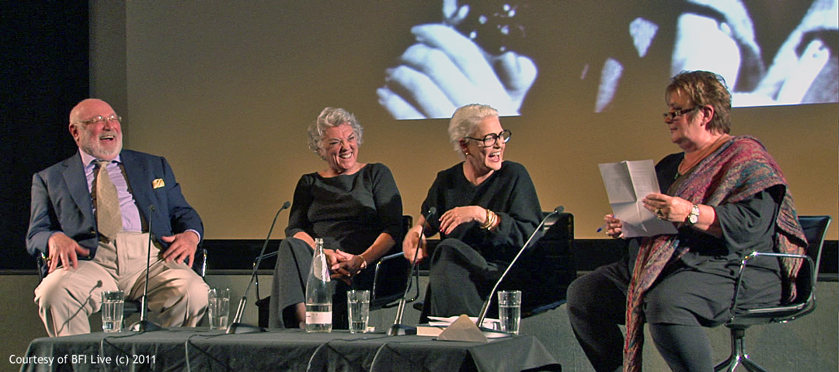 Barney Rosenzweig, Tyne Daly, Sharon Gless, Jenni Murray at BFI Event